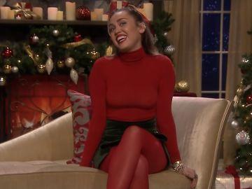 Miley Cyrus en su intervención en el show de Jimmy Fallon
