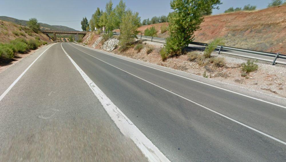 Carretera N-322 a su paso por Puente de Génave.