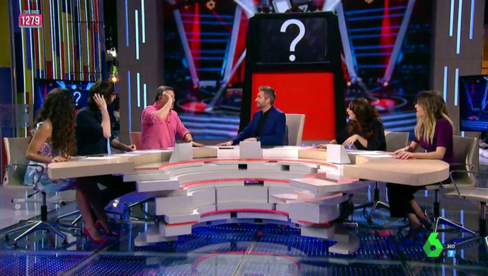 """Cristina Pedroche, Miki Nadal y Anna Simon se enfrentan a un coach de La Voz: """"Estás sordo, ponte un sonotone"""""""