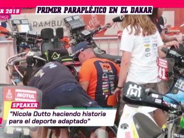 Nicola Dutto, el primer parapléjico que compite en el Dakar