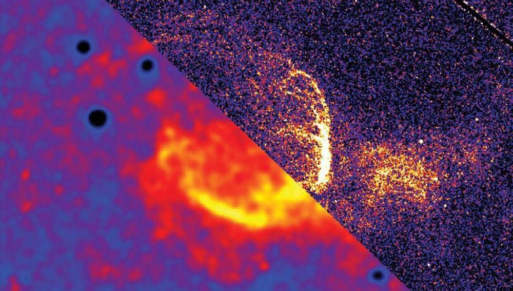 Una gigantesca burbuja interestelar crece en la galaxia de Andromeda