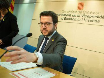 El vicepresidente del Govern, Pere Aragonés