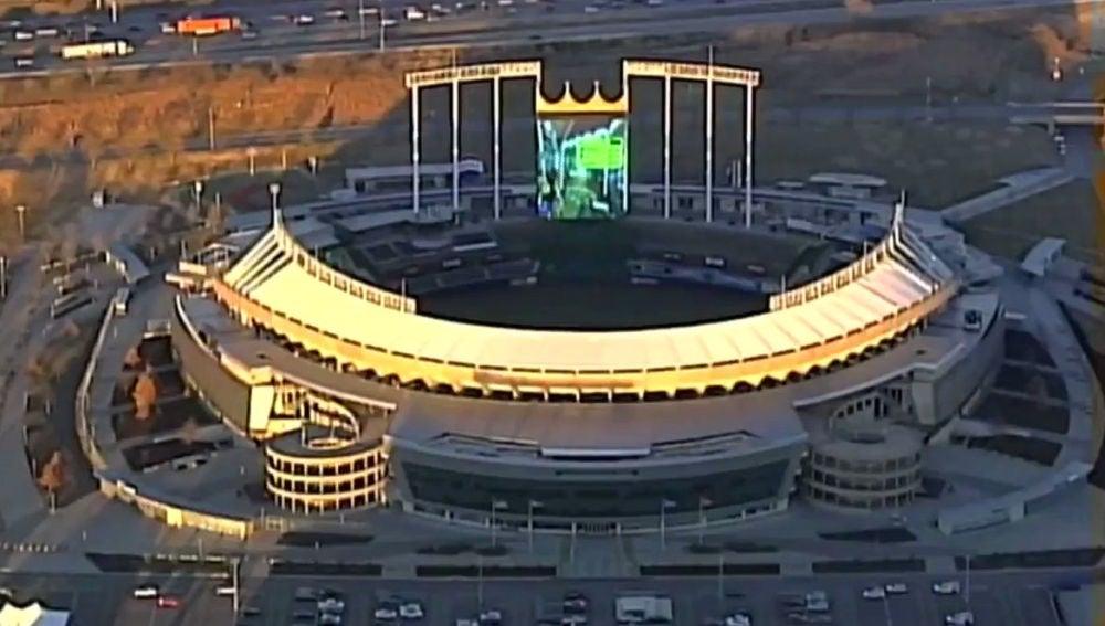 Estadio Kauffman, del equipo de béisbol Kansas City Royals