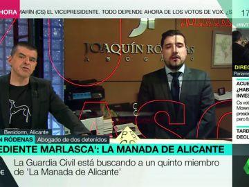 """El abogado de dos detenidos de 'La Manada de Alicante': """"Su versión es que no recuerdan nada por el alcohol y las drogas"""""""