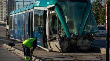 El accidente de tranvía dejó cuatro heridos