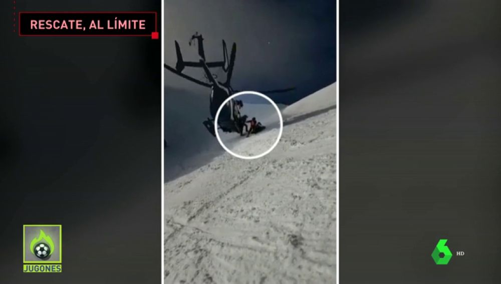 Espectacular rescate a un esquiador de 19 años que se fractura el tobillo a 2.200 metros de altitud