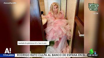 Cuando el glamour de Hollywood desaparece en el baño: esta es la imagen que no se vio de los Globos de Oro