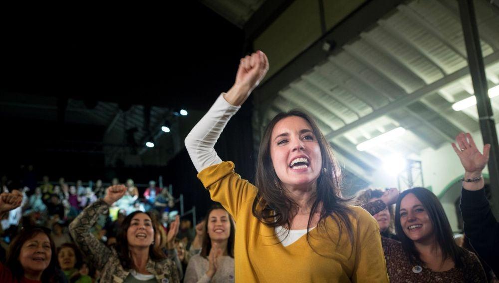 Irene Montero en el acto de Madrid