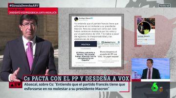 """Juan Marín responde a las acusaciones de Abascal: """"No sé si él le dará explicaciones a Le Pen, pero yo sólo se las doy a Albert Rivera"""""""