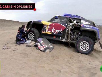 Sainz rompe la suspensión de su coche y pierde las opciones de victoria
