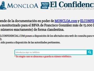 Buscador habilitado por Elconfidencial.com y Moncloa.com