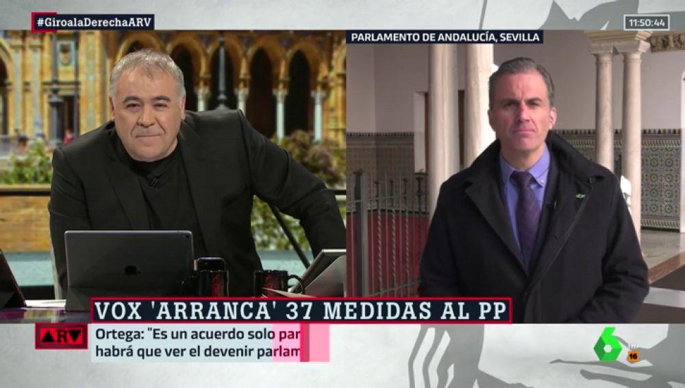"""Ortega Smith responde a las voces del PP que critican a Vox: """"Son muy libres de decir lo que quieran, pero lo que cuenta es la dirección nacional"""""""