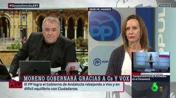 """Marta González, sobre el acuerdo para gobernar en la Junta de Andalucía: """"No puede haber ningún andaluz que no esté de acuerdo con estas medidas"""""""