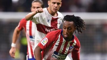 Gelson Martins, durante un partido con el Atlético de Madrid