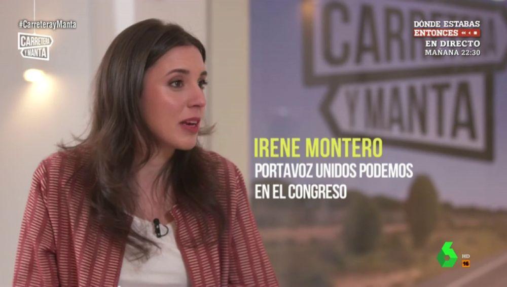 """Irene Montero: """"Tener dos hijos prematuros hace que las cosas sean más difíciles, pero también te hace creer en la vida"""""""