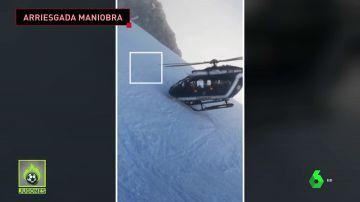 """Habla el piloto del helicóptero que realizó la espectacular maniobra de rescate: """"Se practica regularmente"""""""