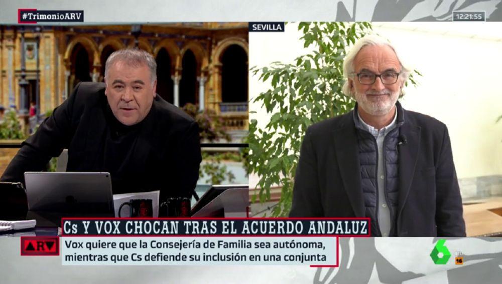 """Álvarez-Ossorio: """"Ciudadanos y PP se van a dejar arrastrar por el discurso de Vox. Es un problema grave"""""""
