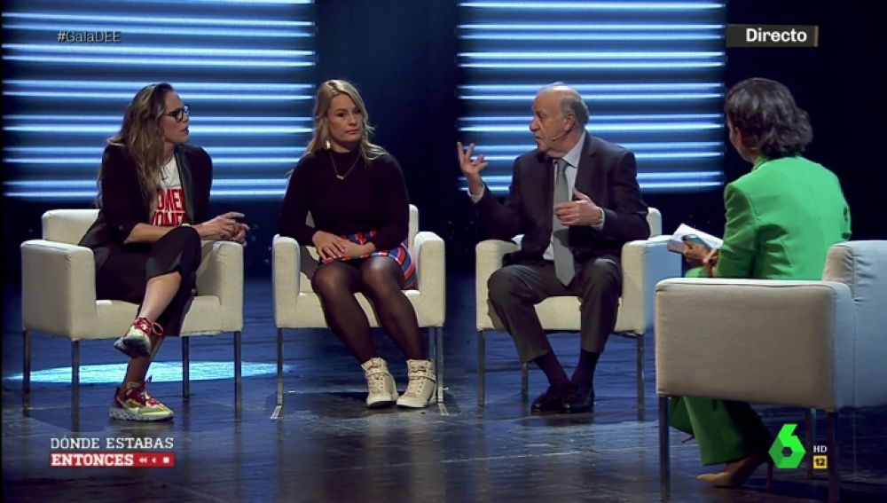 """La conversación entre Lydia Valentín, Vicente del Bosque y Amaya Valdemoro en Dónde estabas entonces: """"Aquellas mujeres medallistas abrieron el camino"""""""