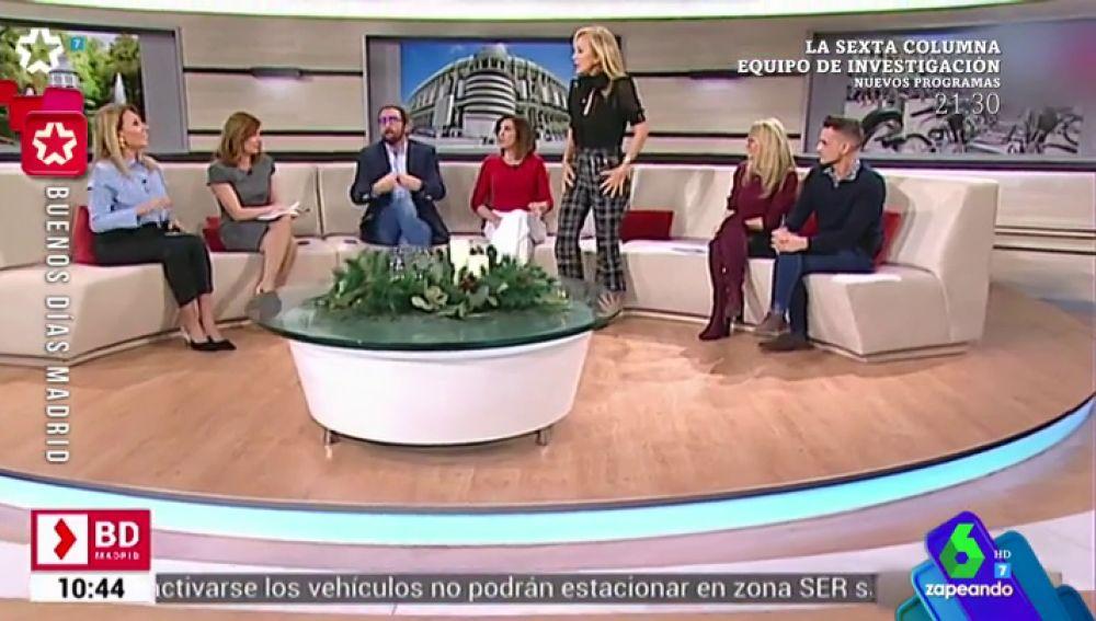"""""""¿Ah, pero estamos en directo?, ¡perdón!"""": la graciosa pillada a Carmen Lomana en televisión"""