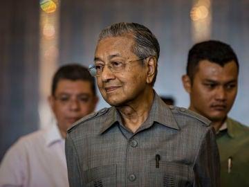 El primer ministro de Malasia, Mahathir Mohamad.