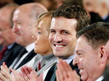 El líder del PP, Pablo Casado, en Oviedo