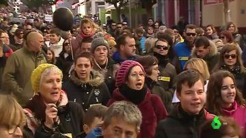 Multitudinaria manifestación en Andorra, Teruel