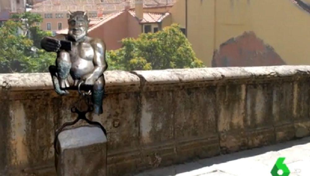 Imagen del diablillo que ha suscitado la polémica en Segovia