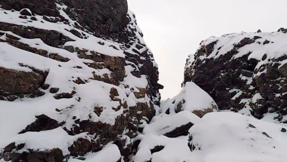 La montaña desprendida en Siberia