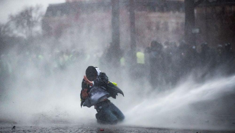 Protestas de los 'Chalecos amarillos', en París.