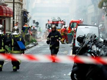 Exteriores del lugar de la explosión de París
