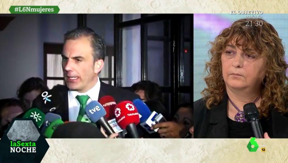 La organizadora de las protestas feministas contra Vox responde a las críticas de Javier Ortega Smith