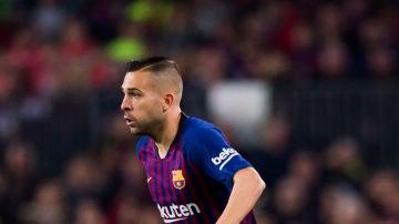 Jordi Alba, durante un partido