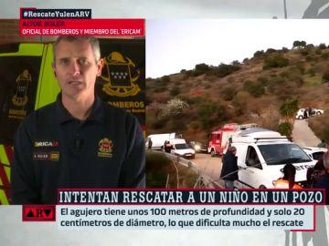 Aitor Soler, oficial de bomberos