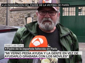 José Luis Sanz, padre de la española muerta en París