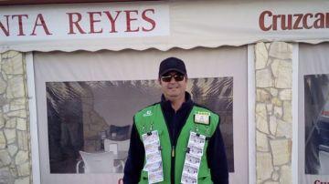 Jesús García Roldán, afiliado a la ONCE y ganador en Conil de la Frontera