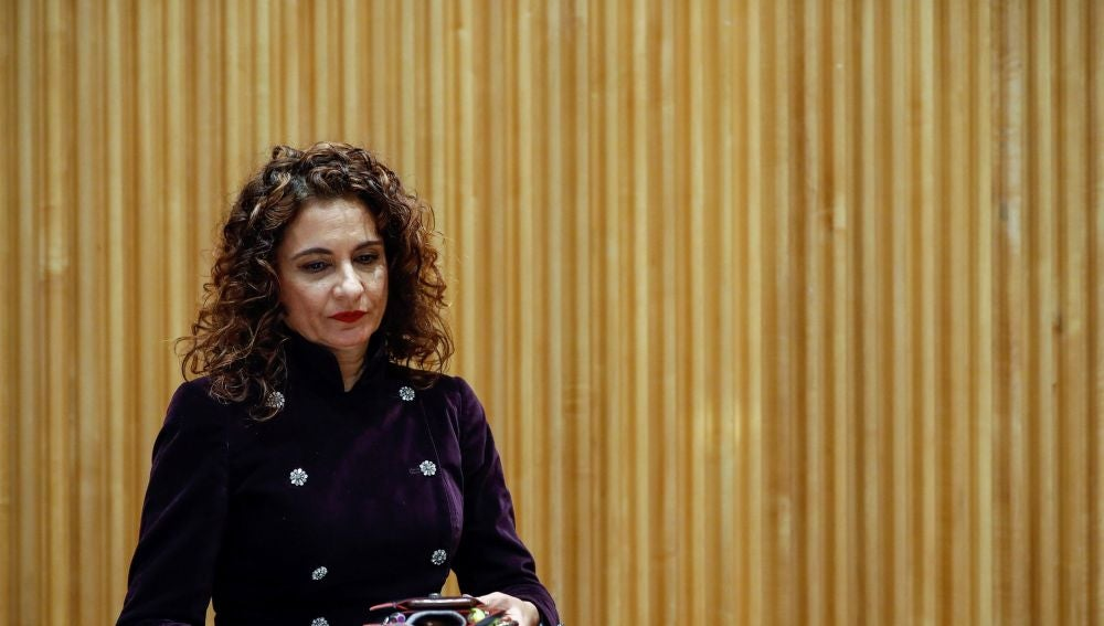 La ministra de Hacienda, María Jesús Montero, presentando el proyecto de los PGE