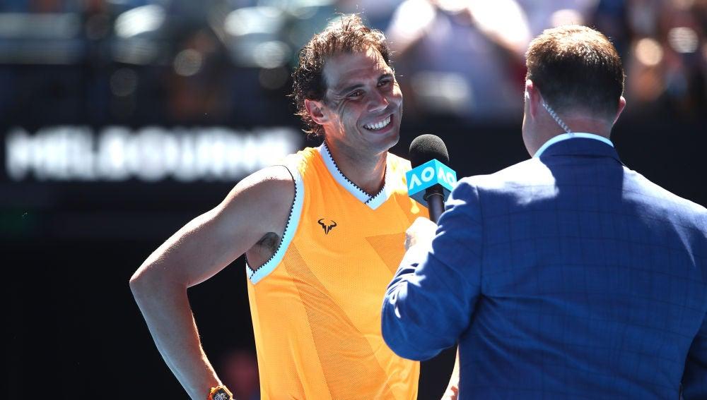 Rafa Nadal, tras su victoria en el Open de Australia