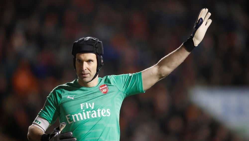 Petr Cech, en un partido del Arsenal