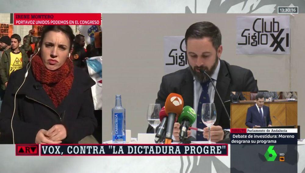 Irene Montero y Santiago Abascal