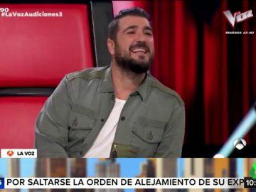 """La divertida imitación de Antonio Orozco a Paulina Rubio con acento mexicano incluido: """"Un poquitito de chile picantosito"""""""