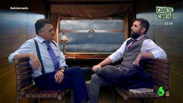 Dani Mateo y El Gran Wyoming en un tren a Teruel