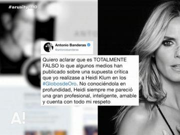 """Antonio Banderas niega que criticase las muestras de cariño de Heidi Klum con su pareja: """"Es totalmente falso"""""""