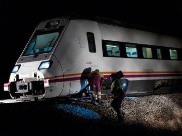 El tren descarrilado a la altura de Torrijos, Toledo