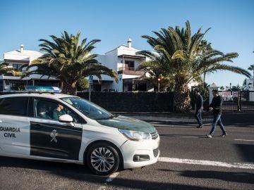 Un coche de la Guardia Civil en Lanzarote.