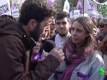 Gonzo en una manifestación feminista en Andalucía