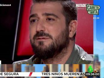 Orozco se emociona en 'La Voz' al recordar uno de los peores momentos de su vida