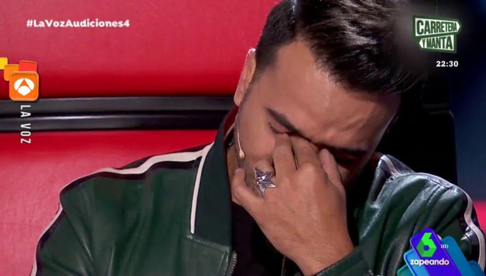 Luis Fonsi emocionado en La Voz
