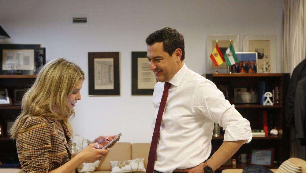 Juanma Moreno tras ser elegido presidente