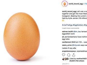 ¿Por qué un huevo se ha convertido en lo más viral de Instagram?