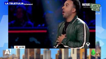 La divertida reacción de Luis Fonsi tras ser elegido por uno de los concursantes de 'La Voz'